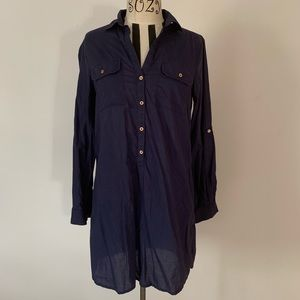 Lilly Pulitzer Button Up Navy Dress